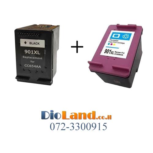 מדהים דיו למדפסת HP OFFICEJET J4580 | ראש דיו HP 901XL - דיו לנד GX-21